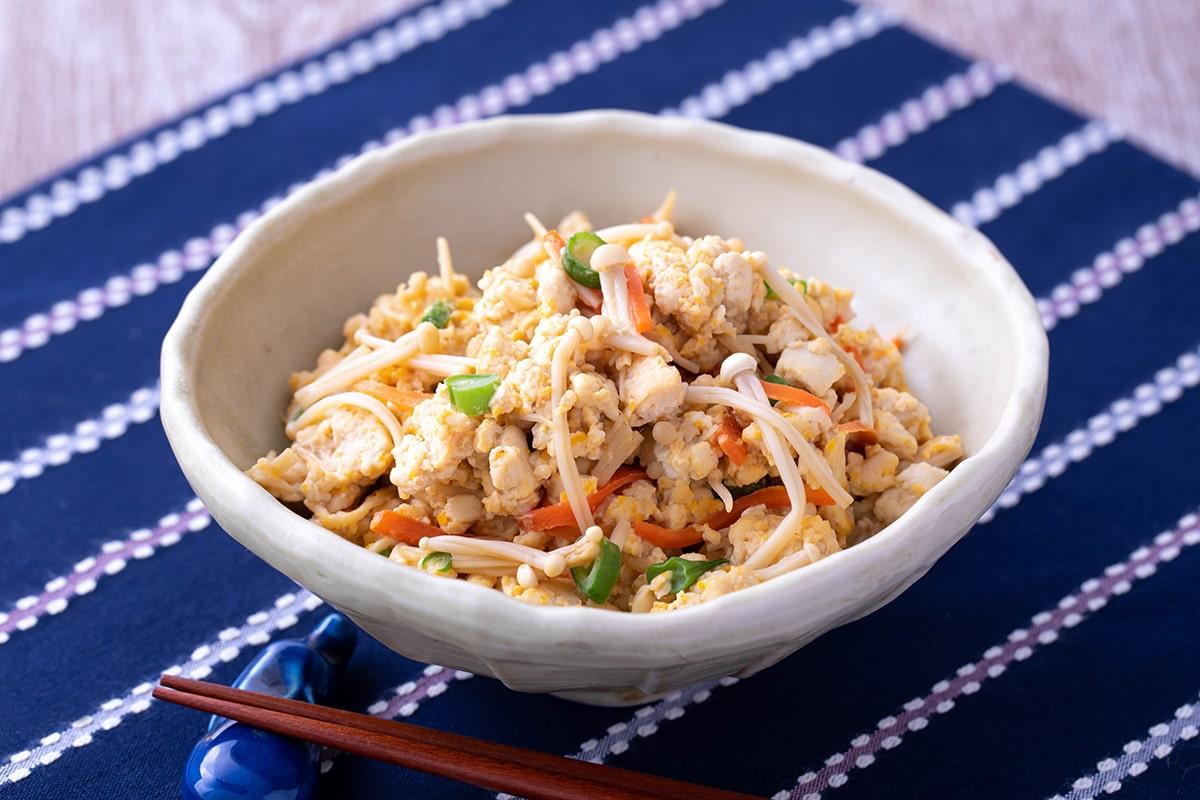 えのきの炒り豆腐