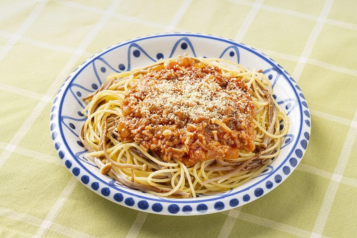 きのこたっぷりミートソーススパゲティ
