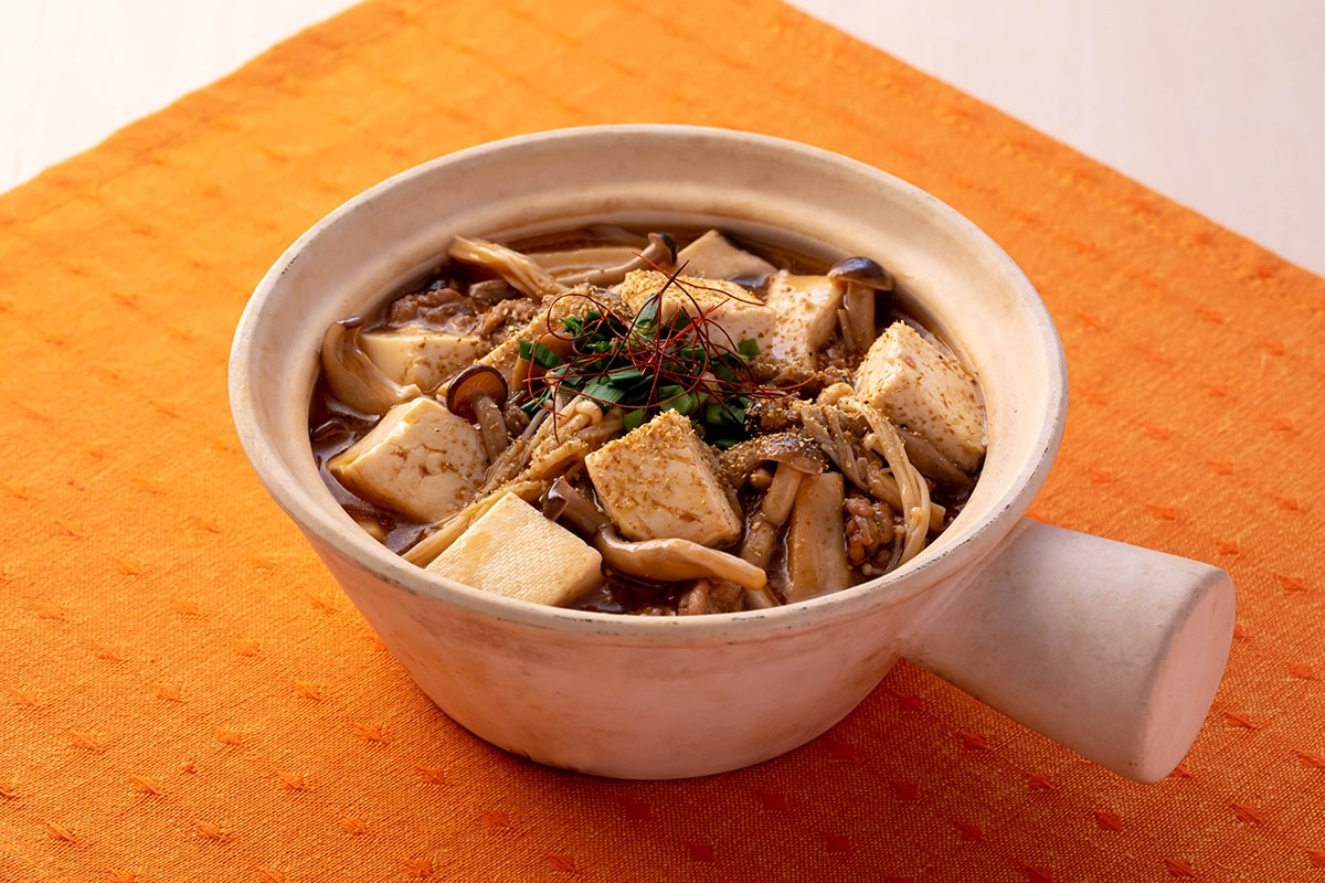 山椒香る きのこの麻婆豆腐