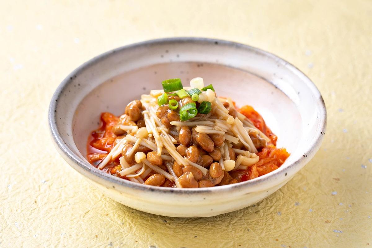 えのきのキムチ納豆