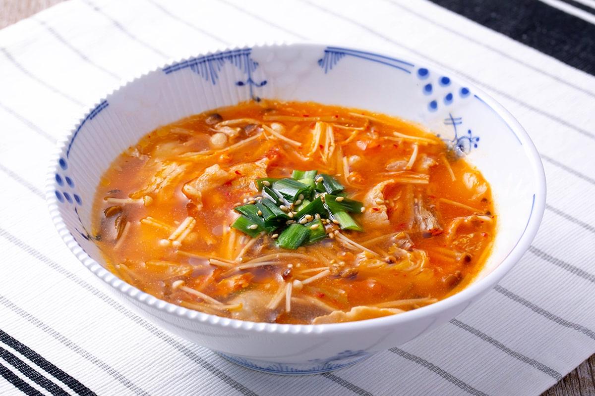 きのこのキムチスープ