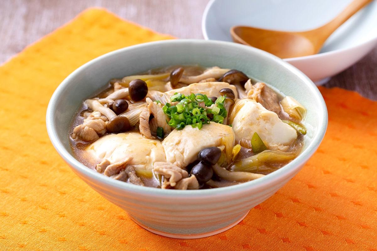 きのこ入り肉豆腐