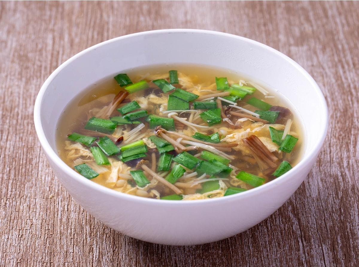えのきのニラたまスープ