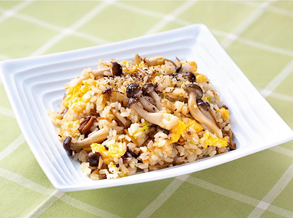 きのこと卵の生姜チャーハン
