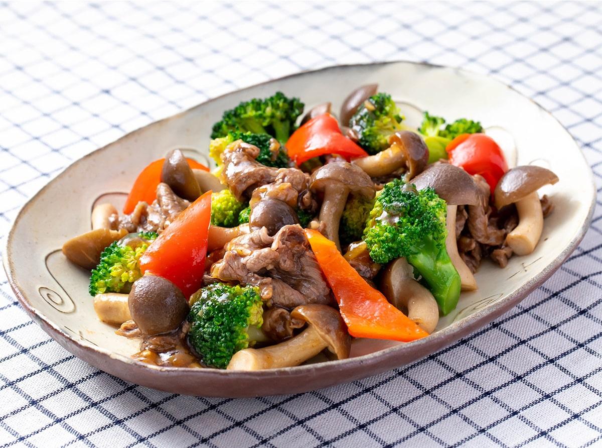 牛肉とブロッコリーのしめじ炒め